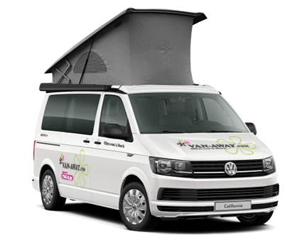 4 berth volkswagen california campervan hire in France